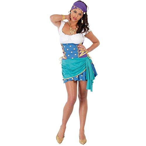 Guirca - Disfraz Odalisca Zincgara Gitana Mujer, Multicolor, 30111644