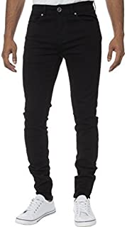 Kruze Designer Mens Skinny Slim Fit Jeans Casual Super Stretch Denim Trousers Pants