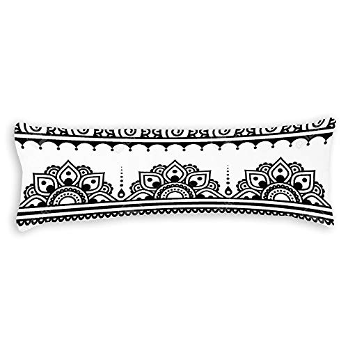 Bohemian Mandala Moroccan Ethnic Style Pregnancy Body Pillow Cover with Zipper Best Gifts to Friends Season Home Decorative Throw Pillow Case Cushion Cover Pillowcase for Sofa Bedroom