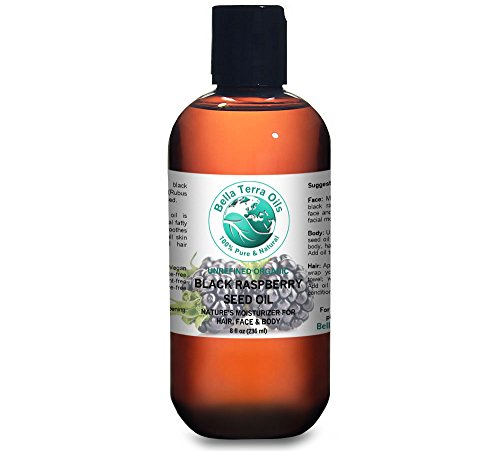 Black Raspberry Seed Carrier Oil 8 oz 100% Pure Cold-pressed Unrefined Organic - Bella Terra Oils