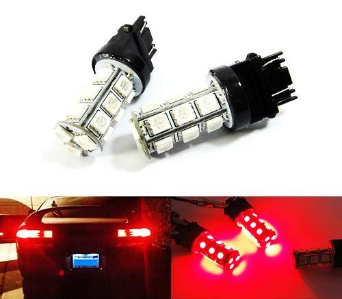 2 x luces de freno de luz antiniebla trasera, color rojo, 182 P27W 180 P27/7W PR27/7W