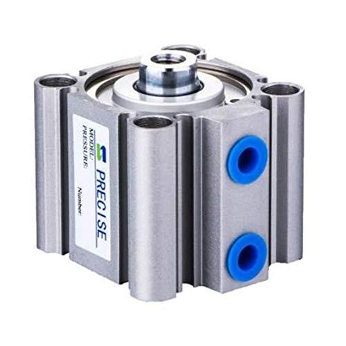 Regulador de presión de aire Precisa de 3/8' NPT Compact Air Cilindro 125 mm Diámetro 50 mm Carrera del mercado de accesorios del reemplazo for SMC Cilindro de aire delgado neumático de aleación