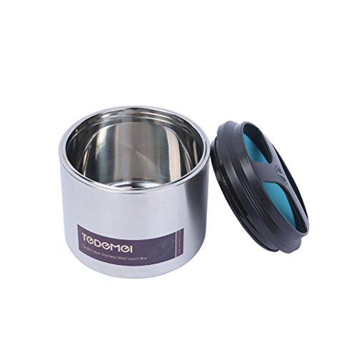 BESTOMZ Termos Scatola Ciotola isolato e termico per pranzo in acciaio inossidabile di 1ML