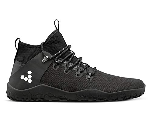 Vivobarefoot Magna Trail, Mens Vegan Multi-Terrain Hiking Shoe with Barefoot Sole & Thermal Protection Black