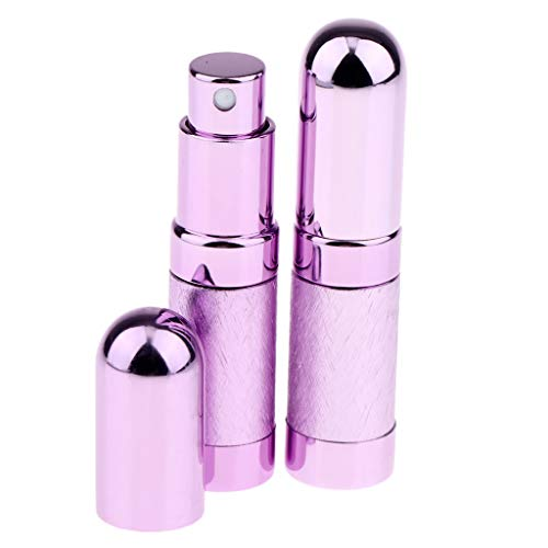 MERIGLARE 2pcs 6ml Portable Mini Parfum Rechargeable Bouteille Vide Pour échantillon Coloré - Violet
