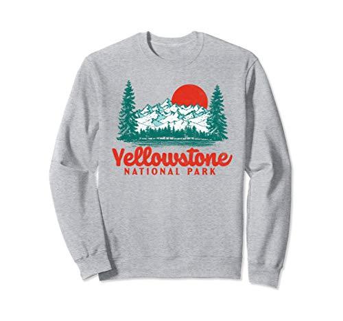 Unisex Vintage Yellowstone Mountains Scene 80's Sweatshirt - S to 2XL