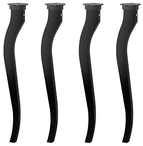 IKEA lallé Massivholz Tisch Beine–69,8cm hoch–schwarz–perfekte Schreibtisch Beine für Zuhause, Arbeit, Schule, Büro–Set von 4