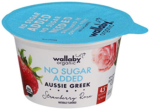 Wallaby, Organic, No Sugar Added Strawberry Greek Yogurt, 5.3 oz