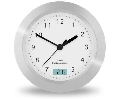 Trendworx 4044 Badezimmeruhr mit Saugnapf und digitalem Thermometer