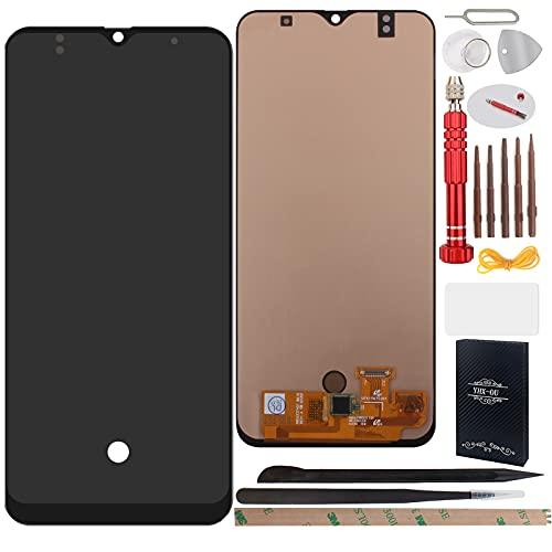 YHX-OU 6.4' para Samsung Galaxy A50 A50s A505F A505FD A505A A505YN Pantalla LCD Juego de digitalizador táctil de repuesto con herramienta de instalación (negro)