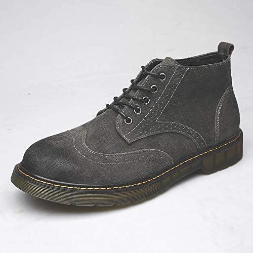 Shukun Bottes pour hommes Martin bottes - Bottes Bottes de Travail pour Hommes - Haute polyvalence - Outillage Décontracté Chaussures rétro sculptées pour Hommes  expédition rapide à vous