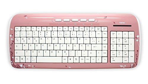 Saitek Expression Tastatur (DE, USB 2.0) pink Butterfly