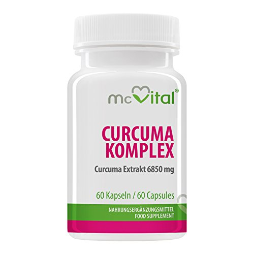 Curcuma Komplex - Curcuma Extrakt 13700 mg - Regt den Stoffwechsel an - Fördert die Verdauung - 60 Kapseln