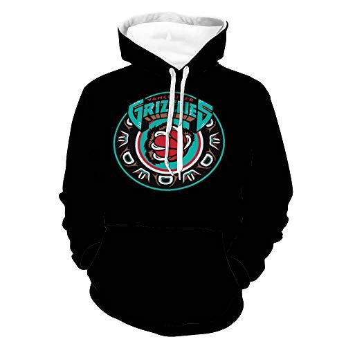 Vancouver Grizzlies Retro Unisex Pullover Hoodies Sweater Men's and Women's Long Sleeve Sweatshirts Retro Printed Sweater