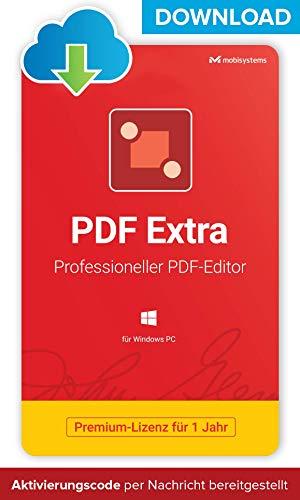 PDF Extra - DOWNLOAD / Online-Lizenz - Adobe® PDF Compatible PDF Editor –– Bearbeiten, Schützen, Kommentieren, Ausfüllen und Unterzeichnen von PDFs - 1 PC/ 1 User / 1-Jahres-Lizenz
