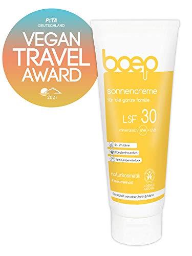 boep Sonnencreme LSF30 - Mineralischer Sonnenschutz für Kinder & Erwachsene - Vegane, riff-freundliche Naturkosmetik Sonnencreme (100 ml)