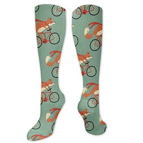 Foxes On Fahrrad Kissen Crew Socken Trainingssocken Wandern Spaziergänge Sportsocken für Damen und Herren Trainer Low Cut Socken