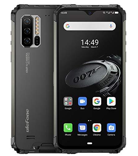 Ulefone Armor 7E(2020) Móvil Resistente,Helio P90 Octa Core 4GB RAM + 128GB ROM, cámara 48MP, Pantalla FHD+ 6.3'', Robusto Smartphone Android 9.0 IP68, Batería 5500mAh, Carga Inalámbrica Qi 10W, NFC