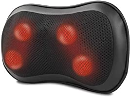 RENPHO Back Massager with Heat, Ultra Slim Shiatsu Lower Back Neck Massage Pillow, 3-Speeds with Net Cover Electric...
