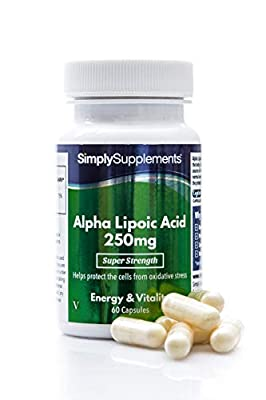 Alpha Lipoic Acid 250mg | Ideal for use alongside Acetyl L-Carnitine | 60 Capsules | 100% Money Back Guarantee | Manufactured in The UK ...