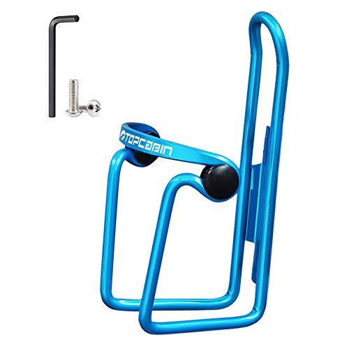 TOPCABIN Fahrrad Radfahren Flaschenhalter Legierung Fahrrad Flaschenhalter Leichte Trinkflasche Rack Halterung für MTB Bike (Blau)