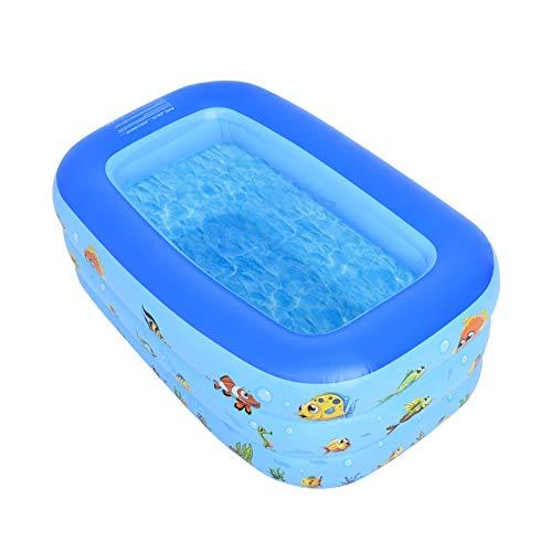 Aufblasbarer Familienpool, aufblasbarer Lounge-Pool für Babys, Kleinkinder, Kinder, Erwachsene, Babys, Outdoor, Garten, Garten, Sommerwasserparty (123 * 75 * 46 cm)