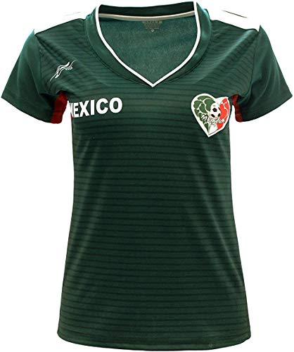 Arza Sports Women Mexico Fan Jersey 2018 Color Green (X-Large)
