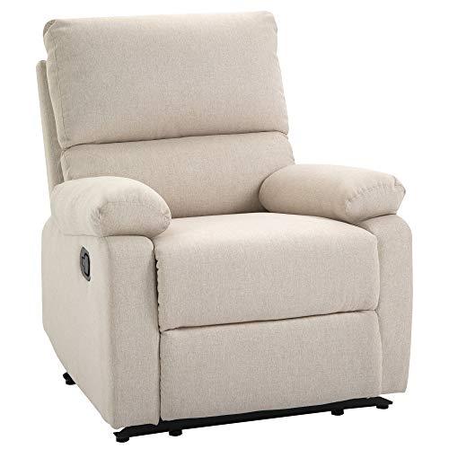 HOMCOM Relaxsessel Liegesessel TV Sessel Einzelsofa 150° neigbar Fernsehsessel Leinen 79 x 92 x 97 cm
