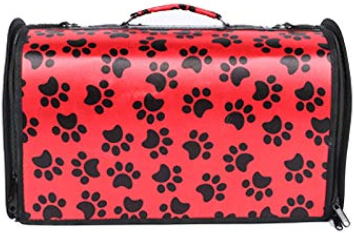 Pet Travel Carrier Tote Hands Free Pet Puppy Outdoor Bag Reversible (color   RED, Size   M)