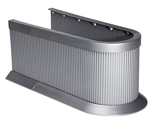 Fackelmann Siphonabdeckung, Rohrverkleidung für Waschbeckenunterschränke - zuschneidbar in Höhe und Länge (Farbe: Silber), Menge: 1 Stück