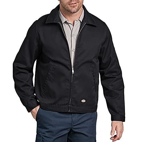 Dickies mens Unlined Eisenhower Jacket, Black, Large