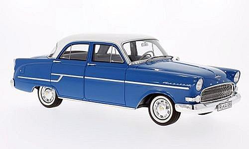 Opel Kapitän, blau/weiss, 1956, Modellauto, Fertigmodell, BoS-Models 1:18