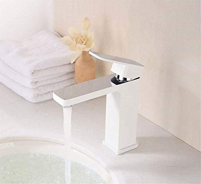 Waschtischarmaturen Waschtischarmaturen Bad Spültischarmaturen Warmes und kaltes Wasser Messing Platz 1 Loch Einhebel Waschbecken Wasserhahn für Badezimmer Küche