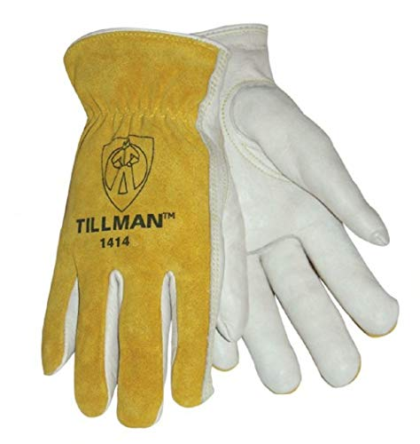 Tillman 1414L Top Grain/Split Cowhide Drivers Gloves - LARGE by John Tillman and Co