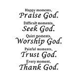 Wall Vinyl Decal Quote Sign Christian Praise God DIY Art Sticker Home Wall Decor...