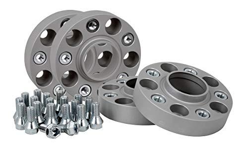 Separadores de ruedas de aluminio, 4 unidades (25 mm por disco, 50 mm por eje), incluye certificado TÜV