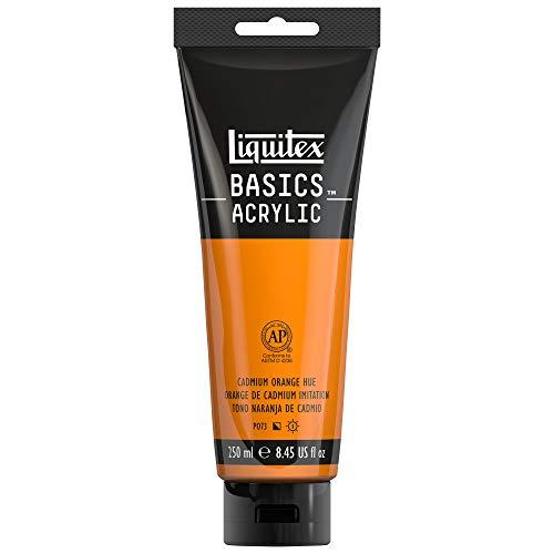 Liquitex 4385720 BASICS Acrylic Paint, 8.45-oz tube, Cadmium Orange Hue