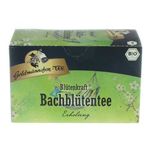 Goldmännchen Blütenkraft Bachblütentee Erholung, Bio-Kräutertee mit Bachblüten, Bio Kräuter Tee, 20 einzeln versiegelte Teebeutel
