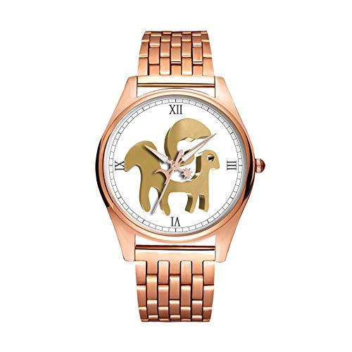 Minimalistische Golden Fashion Quartz Polshorloge Elite Ultra Dunne Waterdichte Sport Horloge Artistiek patroon-014.Ram, Horoscoop, Zodiac Sign, Astrologie