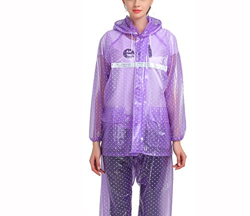 ZZHF Yuyi Impermeabile Impermeabile Trasparente Impermeabile Impermeabile Piumini Suit Adulto Uomini e Donne Outdoor Poncho Diviso 7 Colori Dimensioni opzionali Opzionale