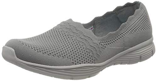 Skechers Damen Seager Sneaker, Grau (Grey Flat Knit Gry), 40 EU