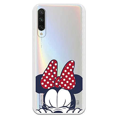 Funda para Xiaomi Mi A3 Oficial de Clásicos Disney Minnie Cara para Proteger tu móvil. Carcasa para Xiaomi de Silicona Flexible con Licencia...