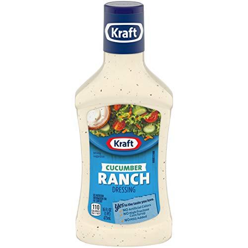 Kraft Cucumber Ranch Dressing (16 oz Bottles, Pack of 6)