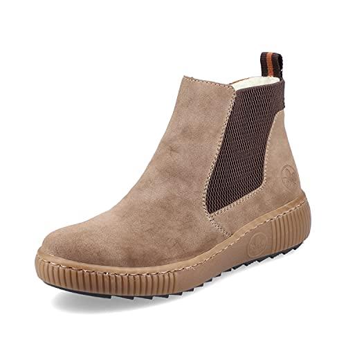 Rieker Damen Z6673 Mode-Stiefel, beige, 41 EU
