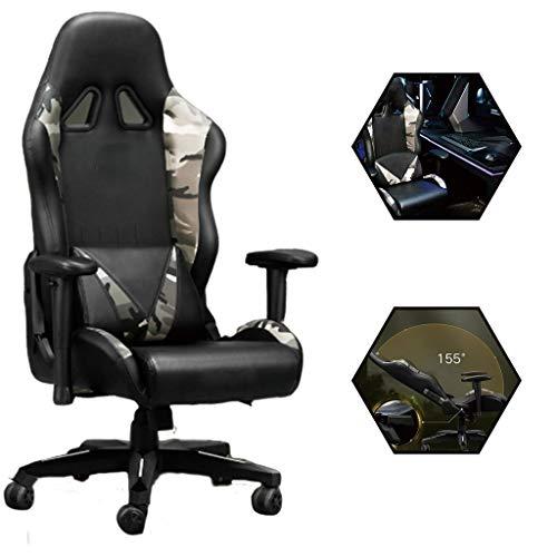 Gaming-stoel voor gaming, thuis, ergonomische bureaustoel, achterover leunen, gezellig, draaistoel, hometraining, meubilair