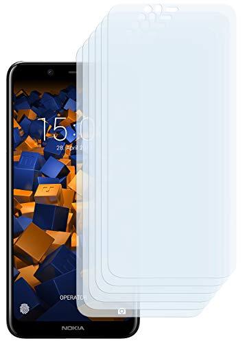 mumbi Schutzfolie kompatibel mit Nokia 5.1 Plus Folie klar, Bildschirmschutzfolie (6X)
