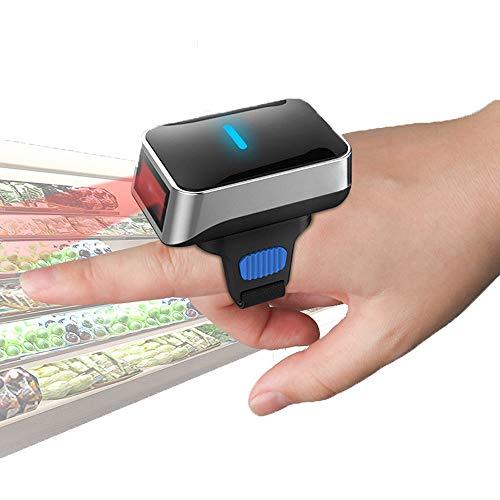 XALO Scanner De Code À Barres, La Numérisation Rouge Scanner Portable USB Bluetooth sans Fil 2.4G 1D Lumière, pour Écran D'ordinateur De Paiement Mobile, Téléphone Intelligent