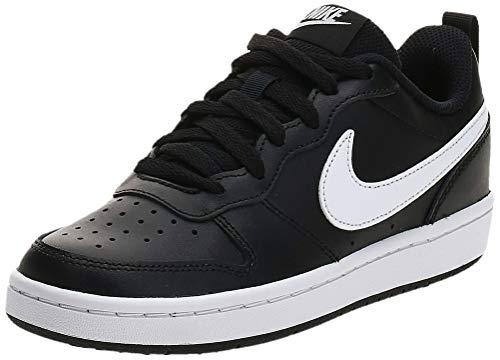 Nike Court Borough Low 2 (GS) Sneaker, Black/White, 40 EU