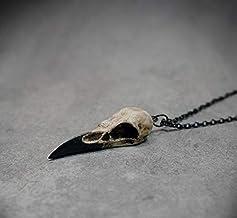 Dfgh Mini Raven Skull Ketting Resin Replica Hip Ho...