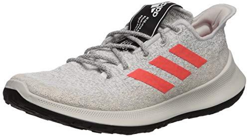 adidas Men's SenseBOUNCE + Running Shoe, Grey/Solar Red/White, 9.5 M US